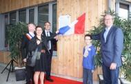 Dévoilement de la plaque « certification Maison Passive » à l'école Marie Navart