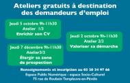 Rendez-vous pour l'emploi… Ateliers gratuits à partir du 5 octobre