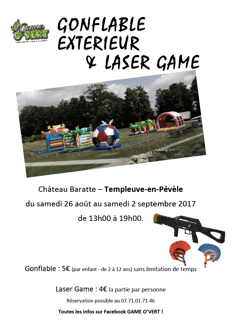 Jeux gonflables et laser game