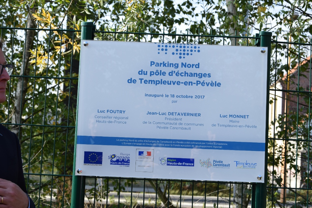 Inauguration du nouveau parking de la gare