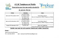 A.C.M Templeuve en Pévèle :  Inscription pour les mercredis récréatifs de janvier-février