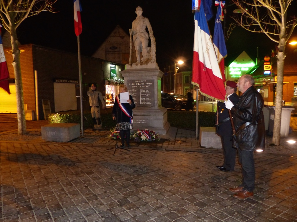 Commémoration aux morts pendant la guerre d'Algérie