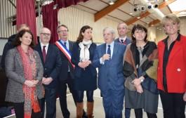 Déploiement de la fibre : visite du ministre Jacques Mézard