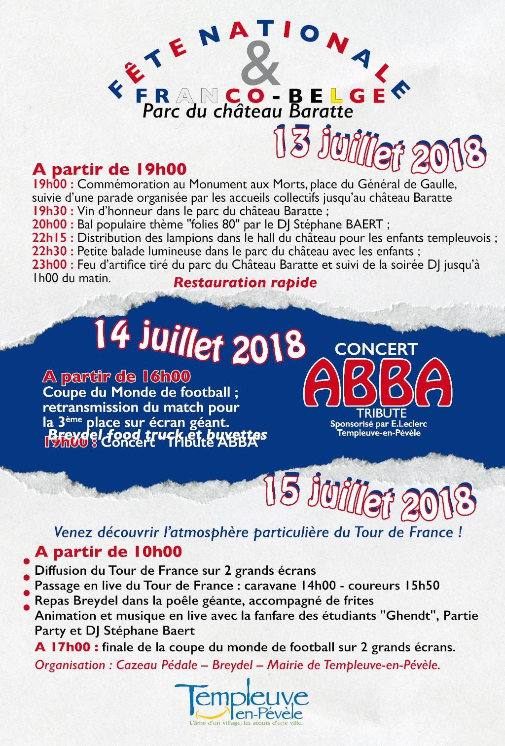 Fête nationale : 3 jours de festivités dans la parc du château Baratte