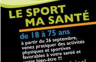 Le sport ma santé… 2ème saison à partir du 26 septembre