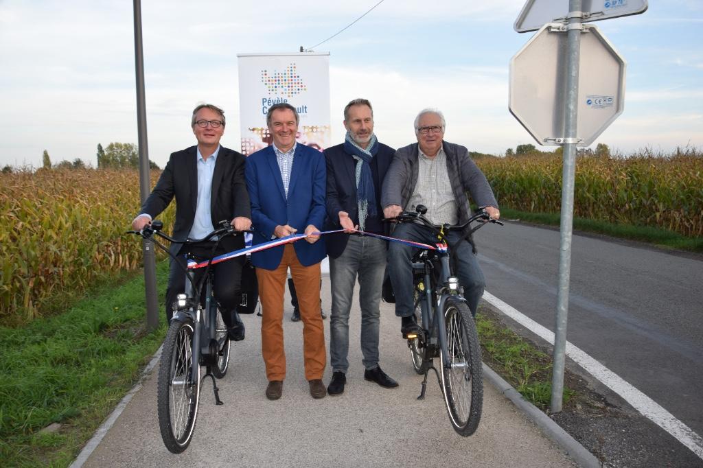 Inauguration de la piste cyclable et piétonne Templeuve-en-Pévèle Genech