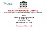 2019 : HORAIRES  MAIRIE