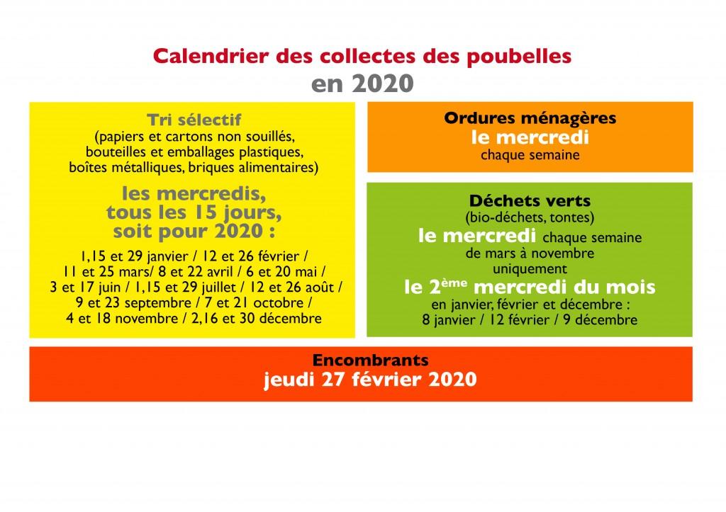 COLLECTE DES POUBELLES 2020