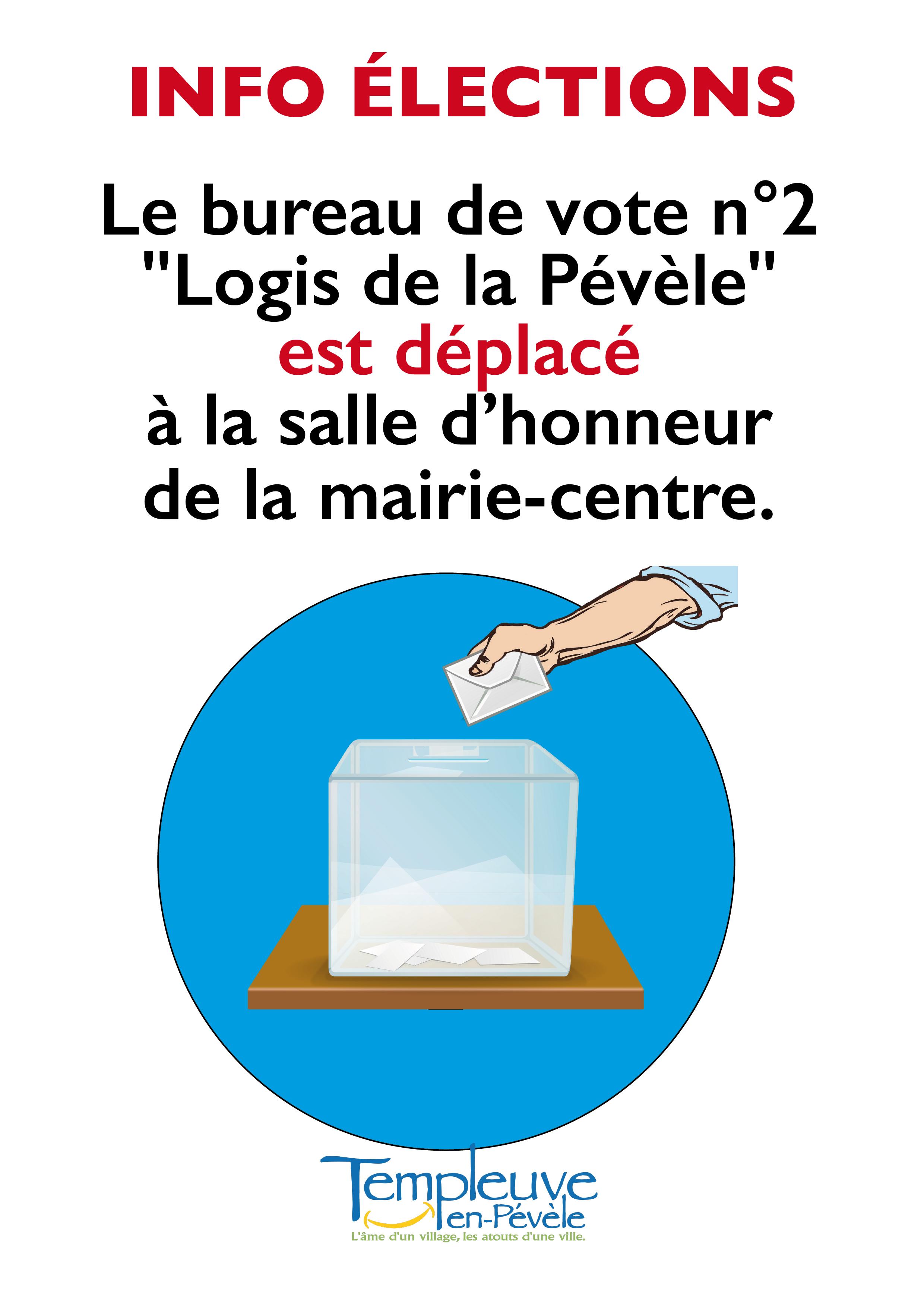 Déplacement du bureau de vote N° 2