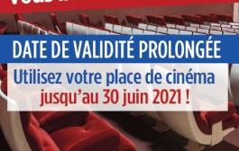 Report des dates de validité des places de cinéma