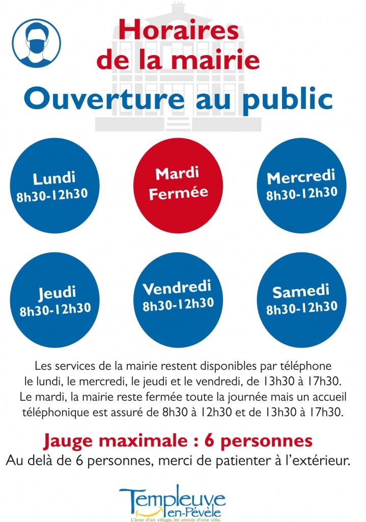 Affiche horaire Mairie