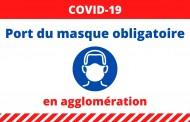 Port du masque obligatoire en agglomération
