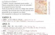 Reprise de la saison culturelle, rejoignez-nous au «village culture» !